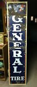 6 Ft. Vintage 1920and039s-30and039s The General Tire Vertical Porcelain Sign -gas Station
