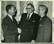1967 Press Photo United Fund Officers C.c. Clifton Jr. And S. Walter Stern Jr.