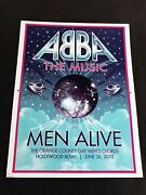 """6/26/10 Rare Official Hollywood Bowl Poster/sign """"abba Music W/men Alive"""" Ocgmc"""