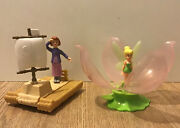 Peter Pan - Tinkerbell And Wendy - Rare Mcdonaldandrsquos Happy Meal Moving Toys
