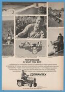 1969 Gravely Riding Lawn Mower Garden Tractor Front Mount Deck Snow Blower Ad