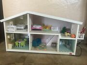 Lundby 2 Level Light Up Doll House With Accesories