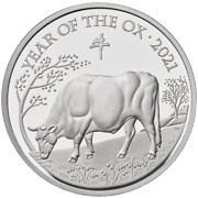 2021 Great Britain Andpound2 Lunar Year Of The Ox 1 Oz Silver Proof Coin - 2688 Made
