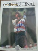 Tiger Woods Autographed Golf Journal October 1994 Issue