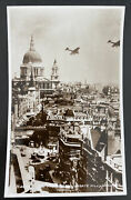 Mint England Real Picture Postcard Airplanes Flying St Paul's And Ludgate Hill