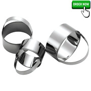 Hit Upon 3 Pcs/set Round Circle Stainless Steel Cookie Cutter Set Biscuit Cookie