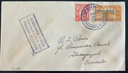 1930 Colon Canal Zone Panama First Flight Airmail Cover To Guayaquil Ecuador