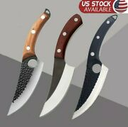 Japanese Kitchen Boning Butcher Knife Stainless-steel 6in Blade Forged Handmade