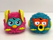 2 Hasbro 2012 Furby Party Rockers Blue Twittby And Pink Loveby Work No Batteries