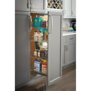 15 Inch Wide Pantry Cabinet Rollout 5 Shelves Organizer Soft Close Chrome Drawer