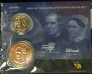 Andrew And Eliza Johnson Presidential Dollar And Spouse Medal Set Mr-42