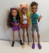 Monster High Clawdeen Clawd Clawdia Wolf Pack Of Trouble Doll Lot Read Below