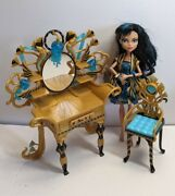 Monster High Gloom And Bloom Cleo De Nile Doll And Vanity Furniture Set Lot Read ⬇