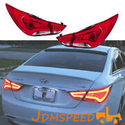 For Hyundai Sonata 2011-2014 Year Drl Yf Led Red Clear Lens Rear Lamp Taillights