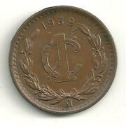 A Very Nicely Detailed High Grade Xf Plus 1939 Mexico Mexican 1 Centavo-jl460