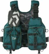 Daiwa Df-6206 Float Game Vest Deep Green From Japan