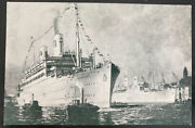 Mint Picture Postcard Swedish American Liners Kungsholm - Gripsholm
