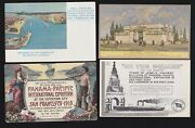 Us 1915 Pan-pacific International Expo Postcards Lot Of 4 Ppie21
