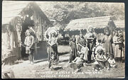Mint Usa Rppc Real Picture Postcard Native American Indians As Zoo Display