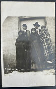 1910 Usa Real Picture Postcard Cover Rppc Native American Nacedah Indians