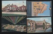 Us 1915 Pan-pacific International Expo Postcards Lot Of 4 Ppie15