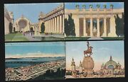 Us 1915 Pan-pacific International Expo Postcards Lot Of 4 Ppie12