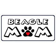 Beagle Mom Paw Print Pet Heart Dog License Plate Made In Usa