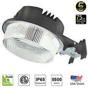 Led Security Area Lights 75 Watts - Barn Light Dusk To Dawn With Photocell