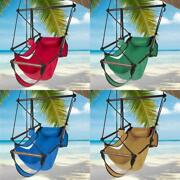 Hammock Chair Swing Hanging Rope Net Chair Porch Patio Outdoor