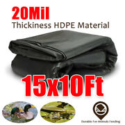 20mil Large 15x10ft Pool Pond Liner Durable Hdpe Material Long Lifespan Quality