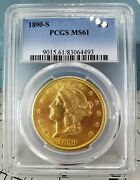 1890-s 20 Double Eagle Gold Coin Pcgs Ms61 Die Crack Lowest Price On Ebay