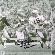 Signed 10x10 Photograph Of Rollie Stichweh From The 1964 Army-navy Game