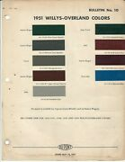 1951 Willys Overland Jeep Truck Station Wagon Farm Jeep Paint Chips Dupont