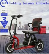 Free Ship - Disabled Elderly Handicap Electric Folding Mobility 3 Wheel Scooter