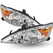 For 2002 2003 2004 Toyota Camry Headlights Headlamp Replacement Lamp Left+right