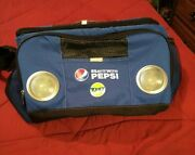 Collectible Pepsi Cola Promo Insulated Lunch Bag With Speakers And Bottle Opener