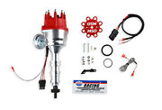 Msd 85951 Ford Fe Block Ready-to-run Small Distributor W/ Red Cap And Steel Gear