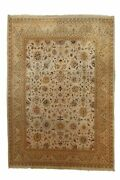 Hand-made 10and0390and039 X 14and0390and039 Mahal Wool Rug Hand-knotted Wool 10x14 Area Rug