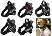 Pets Customized Harness Dogs Vest Puppy Tags Big Reflective Personalized Labels