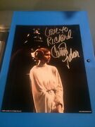 Carrie Fisher Princess Leia Autograph Star Wars