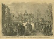 President Lincoln Funeral At Chicago 1865 Removing Coffin From The Funeral Train