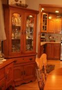 Two Absolutely Gorgeous Corner Curio China Cabinets. High Quality Furniture.andnbsp