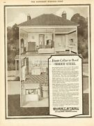 1926 Sheet Steel Pittsburgh Pa Metal Roofing Shingles Home Cellar To Roof Ad