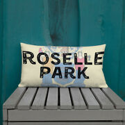 Roselle Park New Jersey State Flag Background Premium Pillow