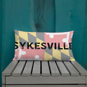 Sykesville Maryland State Flag Background Premium Pillow