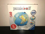 Ravensburger Puzzleball World Globe Puzzle W/ Display Stand - 540 Pieces