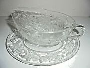 Vintage Antique Princess House Fantasia Gravy Boat And Plate New With Tag