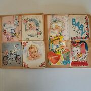 Lot Over 120 Vintage Greeting Cards1950s-60s Birthday Valentines Baby Holidays