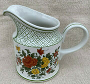 Milk Water Pitcher Villeroy Boch Summer Day Floral Germany 109676 Flowers 6.5