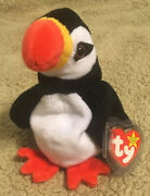 Rare 1997 Ty Beanie Baby Puffer Puffin New Multiple Tag Errors
